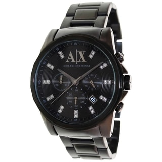 Armani Exchange Men's AX2093 Black Stainless Steel Quartz Watch with Black Dial