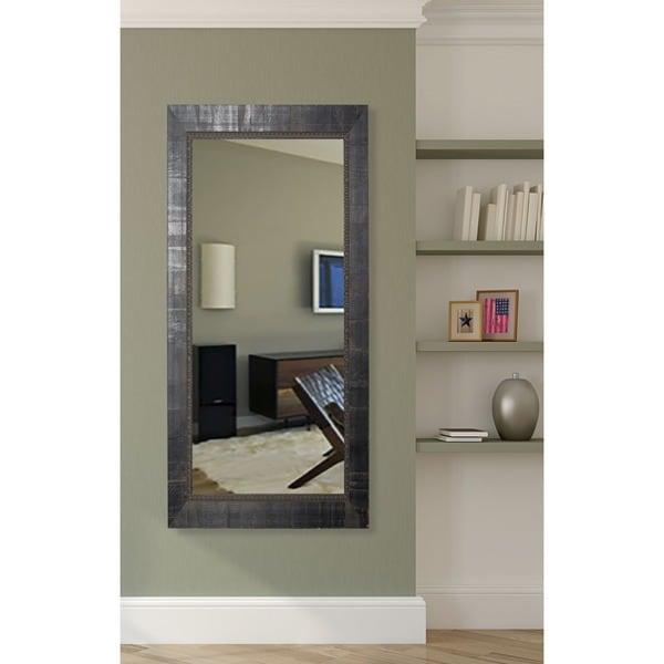 American Made Rayne Tuscan Ebony 29.5 x 64.5-inch Vanity Wall Floor Mirror