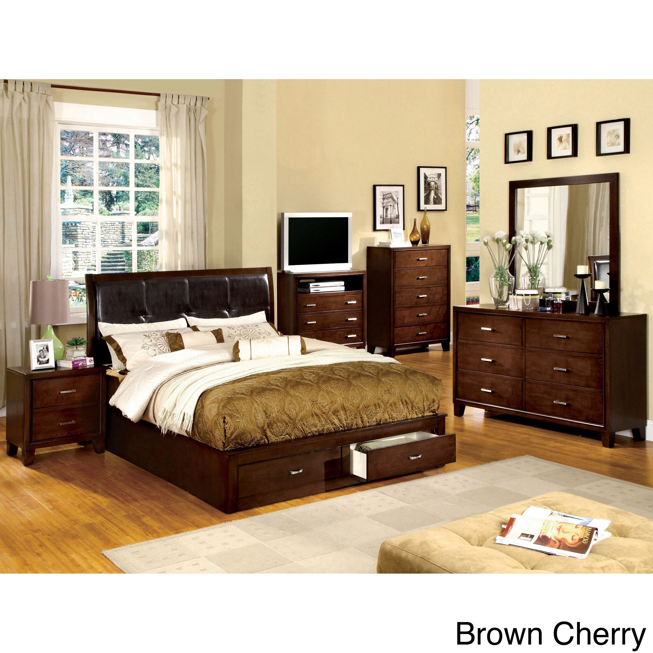 Furniture of America York Storage Platform Bed (Queen - B...