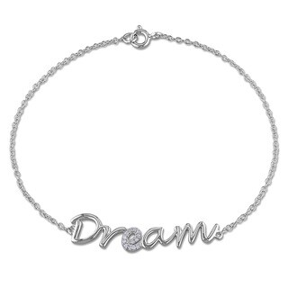 Miadora Sterling Silver Diamond Accent Dream Bracelet
