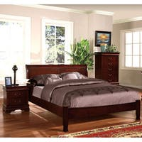 Copper Grove St. Clair Cherry Paneled Platform Bed
