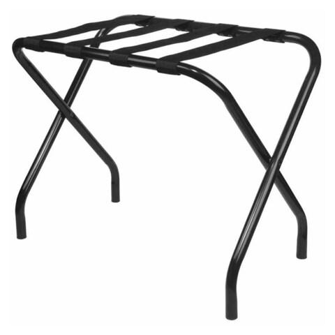 Black Finish Nylon and Steel Luggage Rack