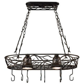 Carbon Loft Manistee Blackened Bronze 2-light Pot Rack
