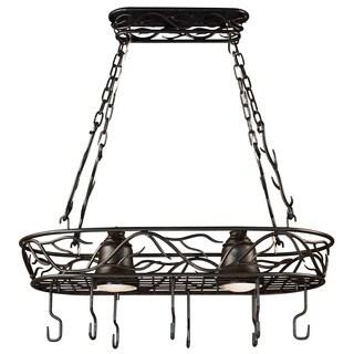 Pine Canopy Lincoln Blackened Bronze 2-light Pot Rack