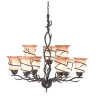 Pine Canopy Lincoln Blackened Bronze 9-light Chandelier