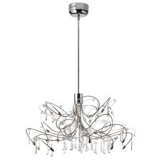 Dainolite Firefly 20-light Chrome Low Voltage Crystal Chandelier