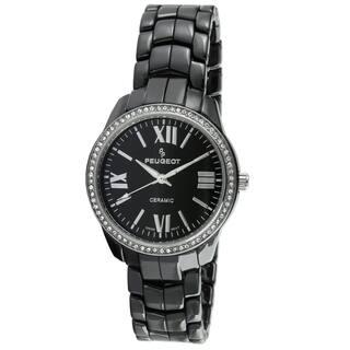 Peugeot Women's Swiss Black Ceramic Crystal Bezel Watch https://ak1.ostkcdn.com/images/products/9240213/P16406590.jpg?impolicy=medium