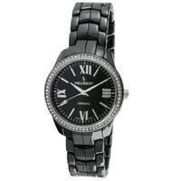 Peugeot Women's Swiss Black Ceramic Crystal Bezel Watch
