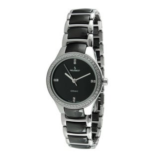 Peugeot Women's PS4904BS Swiss Ceramic Two-tone Link Watch