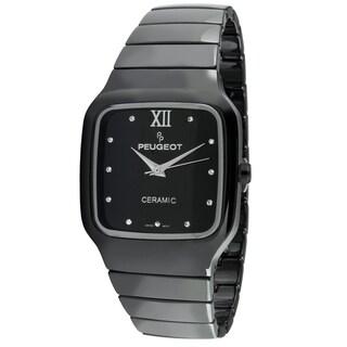 Peugeot Swiss Women's Ps4899bk Square Black Ceramic Watch