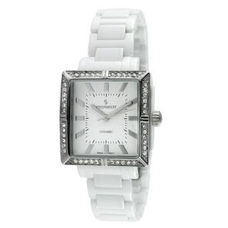 Peugeot Women's PS4903WT Swiss White Crystal Ceramic Watch https://ak1.ostkcdn.com/images/products/9240220/P16406587.jpg?impolicy=medium