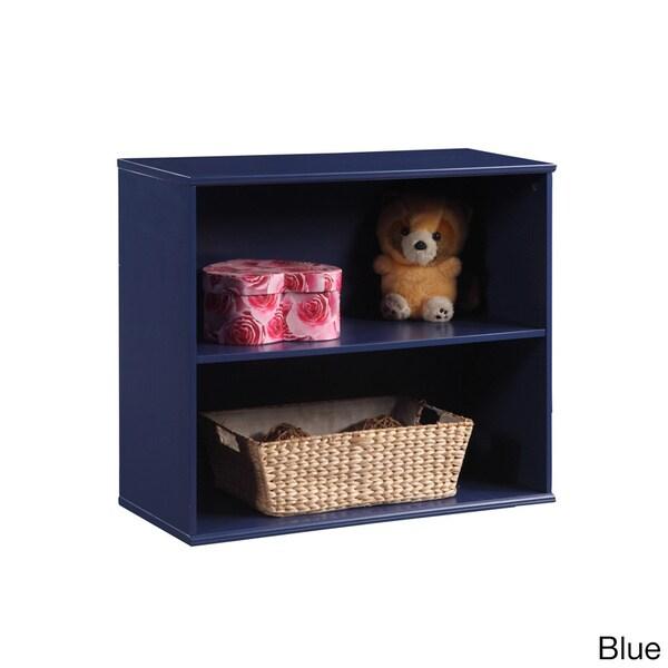 Open-front Dual Shelf Storage Unit