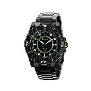 Bulova Men's 98B178 Marine Star Black Ion-plated Watch