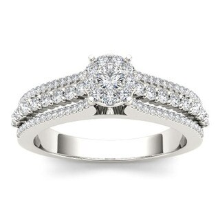 De Couer 10k Gold 1/2ct TDW Diamond Engagement Ring