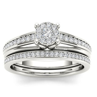 De Couer 10k Gold 2/5ct TDW Diamond Bridal Set