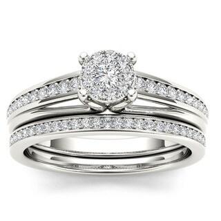 De Couer 10k Gold 2/5ct TDW Diamond Bridal Set
