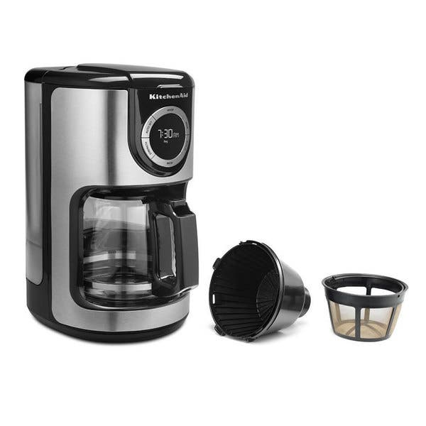 Shop KitchenAid KCM1202 12-cup Glass Carafe Coffee Maker ...
