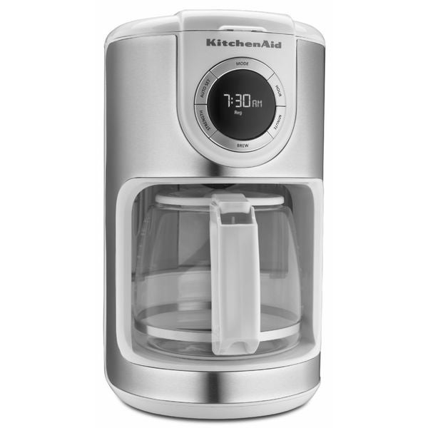 shop kitchenaid kcm1202wh white 12 cup glass carafe coffee maker rh overstock com