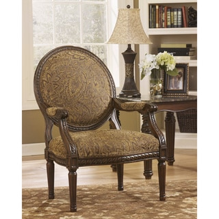 Signature Design by Ashley Cambridge Amber Showood Accent Chair