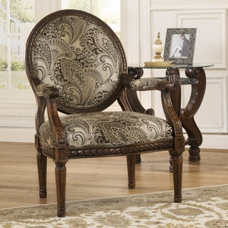 Signature Design by Ashley Martinsburg Meadow Showood Accent Chair