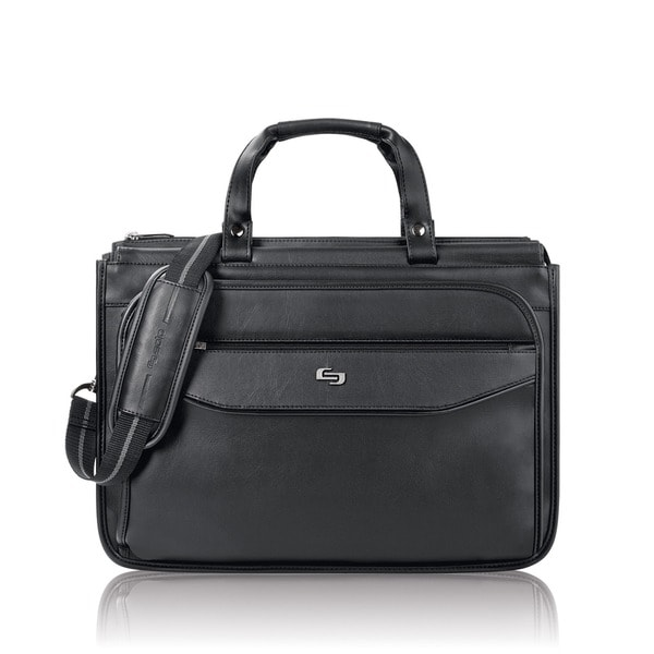 Solo Classic Triple Compartment 15.6-inch Laptop Briefcase. Opens flyout.
