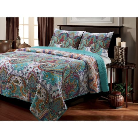 The Curated Nomad Horsdal Oversized Reversible Cotton 3-piece Quilt Set