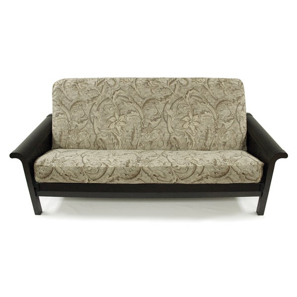 floral chenille full sized futon cover floral chenille full sized futon cover   free shipping today      rh   overstock