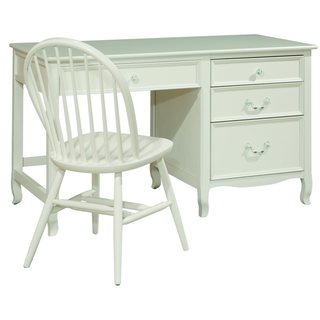 Emma 4-drawer White Student Desk