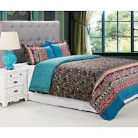 Miranda Haus Rosewood 300 Thread Count 3-piece Cotton Duvet Cover Set