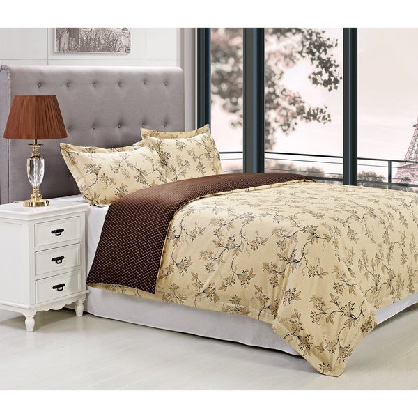 Superior Woodhaven Floral 300 Thread Count Cotton Duvet Cover Set