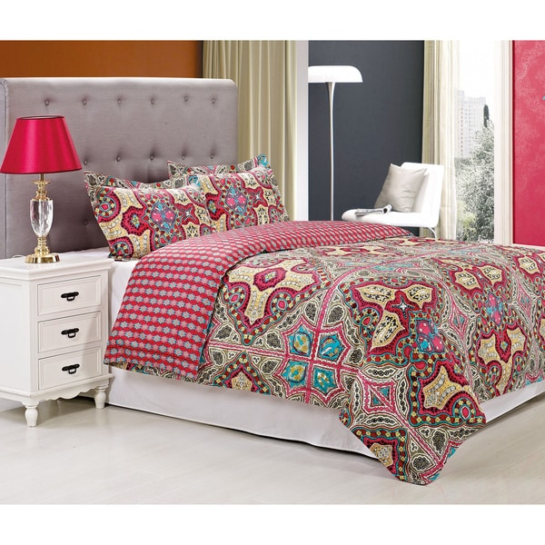 Superior Wildberry 300 Thread Count 3-piece Cotton Duvet Cover Set