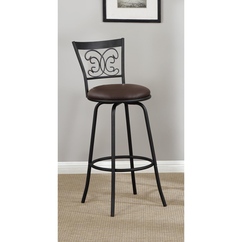 Marvelous Dark Bronze Scroll Back Adjustable Metal Swivel Counter Height Bar Stools Set Of 2 Cjindustries Chair Design For Home Cjindustriesco
