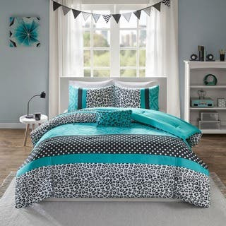 Mi Zone Camille Teal Pieced Animal Print Comforter Set|https://ak1.ostkcdn.com/images/products/9240557/P16406888.jpg?impolicy=medium