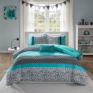 Mi Zone Camille Teal Pieced Animal Print Comforter Set (3 options available)