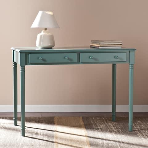 Winfield Agate Green 2-Drawer Writing Desk