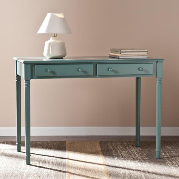 SEI Furniture Winfield Agate Green 2-Drawer Writing Desk. Opens flyout.
