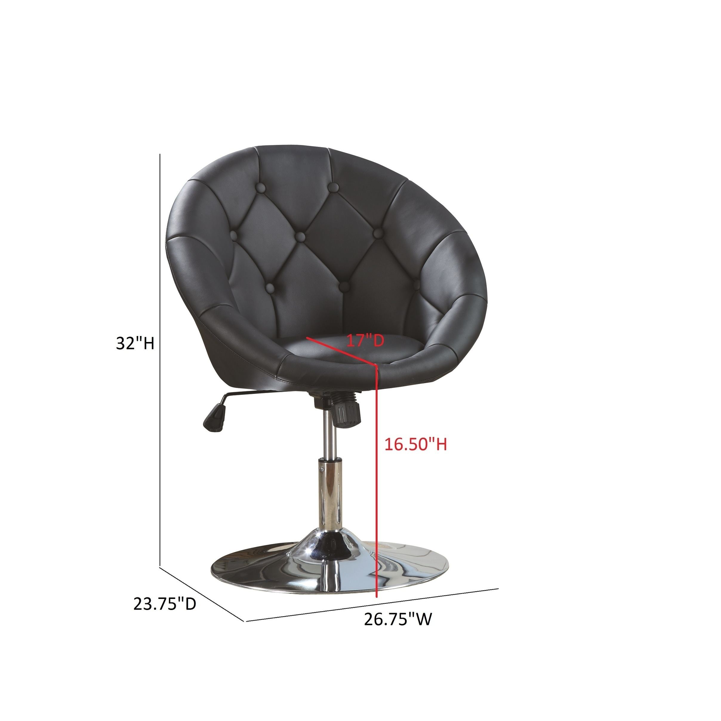 Magnificent Coaster Company Button Tufted Viny Swivel Chair 26 75 X 23 75 X 32 Ncnpc Chair Design For Home Ncnpcorg