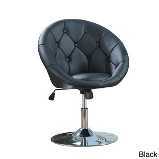 Coaster Company Button Tufted Viny Swivel Chair