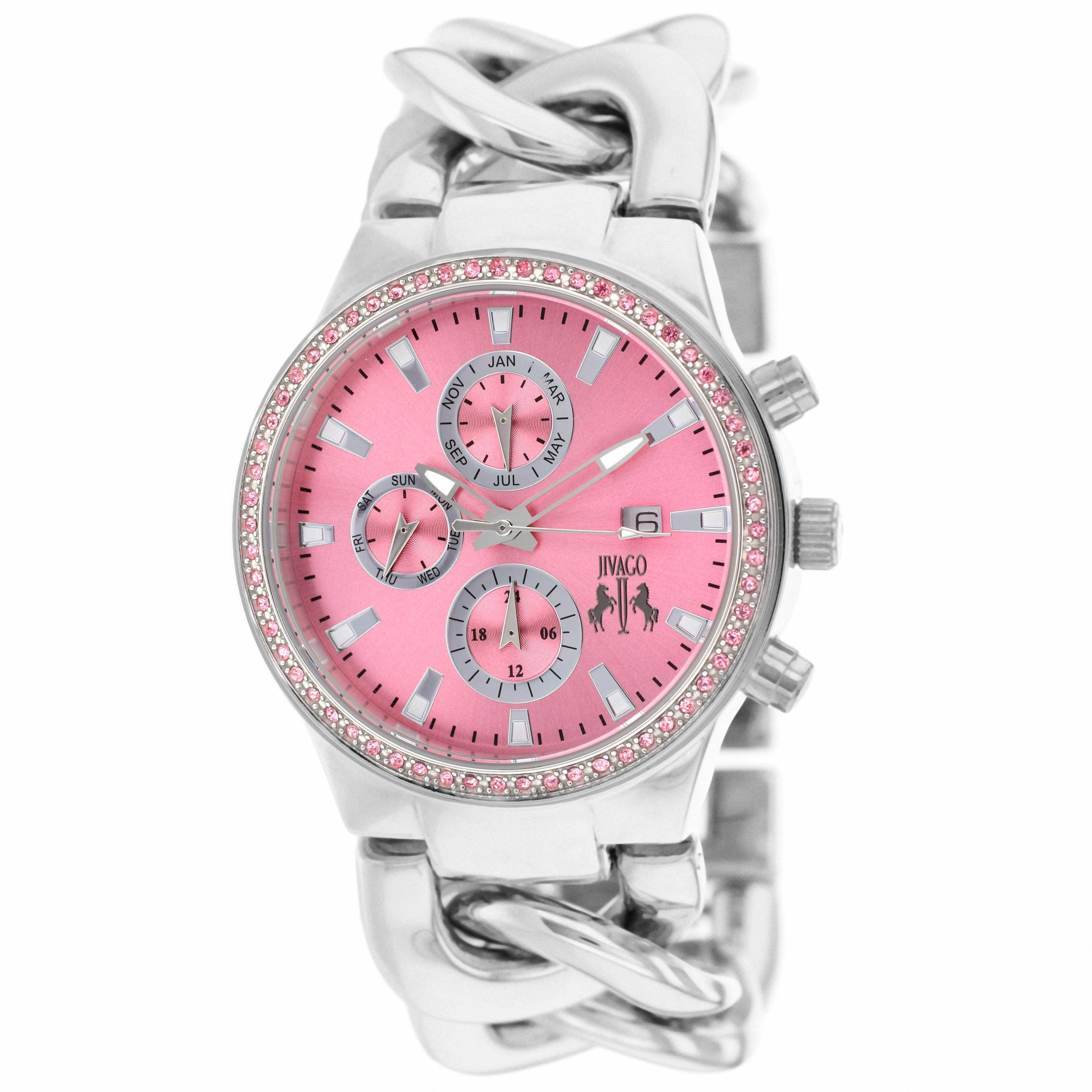 Jivago Women's Lev Pink Dial Analog Watch (Jivago Women's...