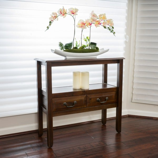 Grant Acacia Wood Accent Table by Christopher Knight Home
