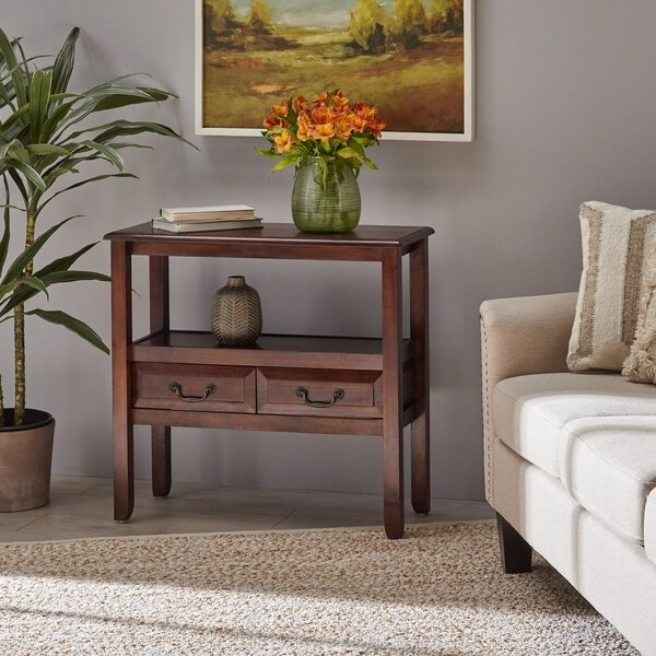 Grant Acacia Wood Accent Table by Christopher Knight Home. Opens flyout.