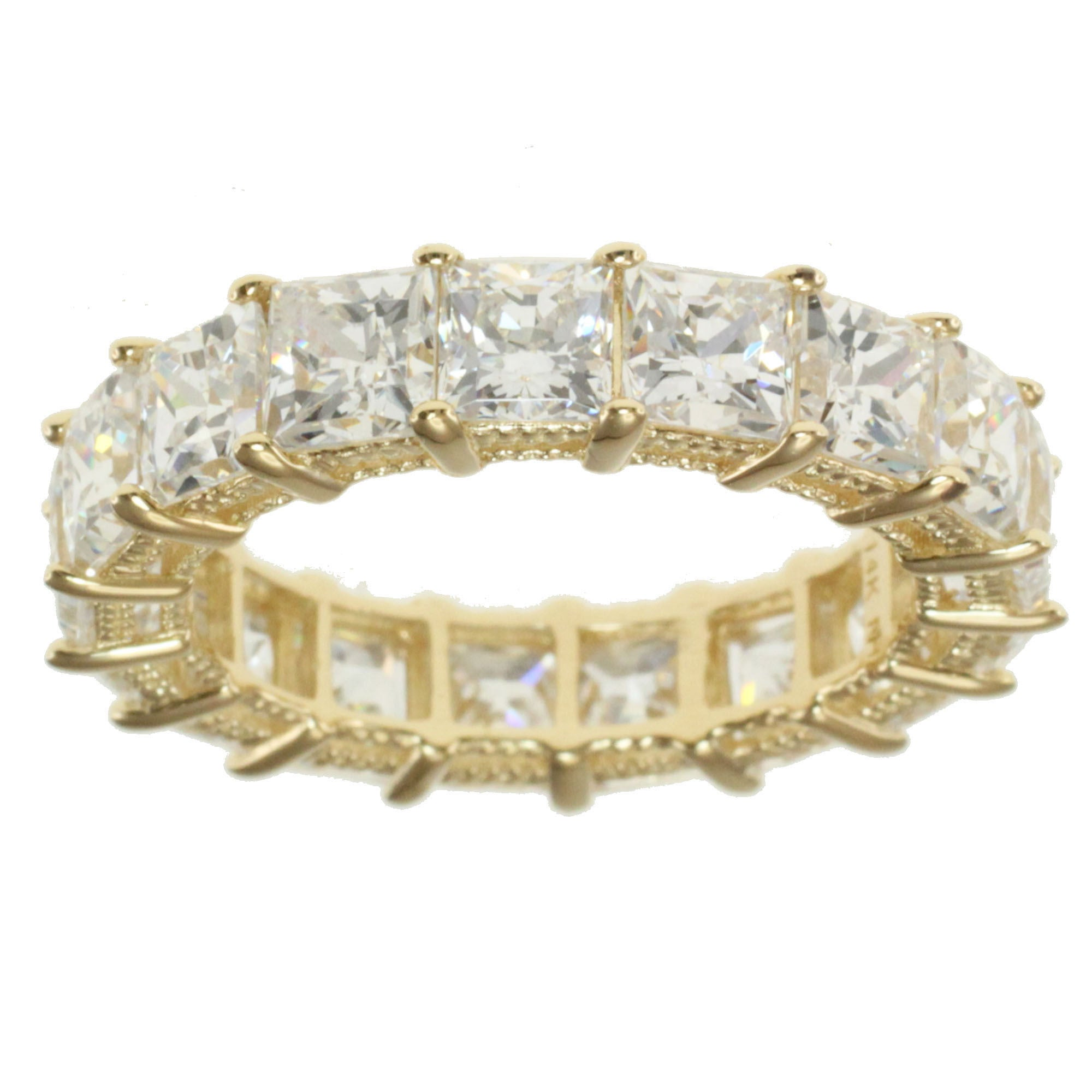 Eternity Ring 14k Yellow Gold with CZ Stones