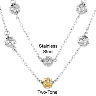 Link to ELYA Stainless Steel and Cubic Zirconia 3 Sphere Necklace Similar Items in Necklaces