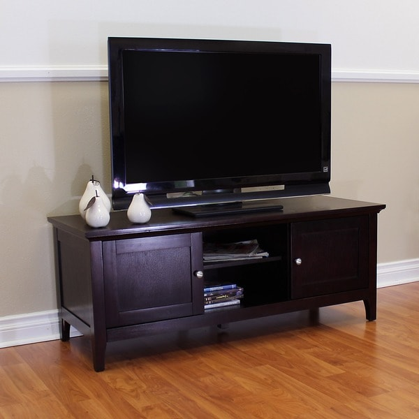 Shop Ferndale Espresso Tv Stand Free Shipping Today Overstock