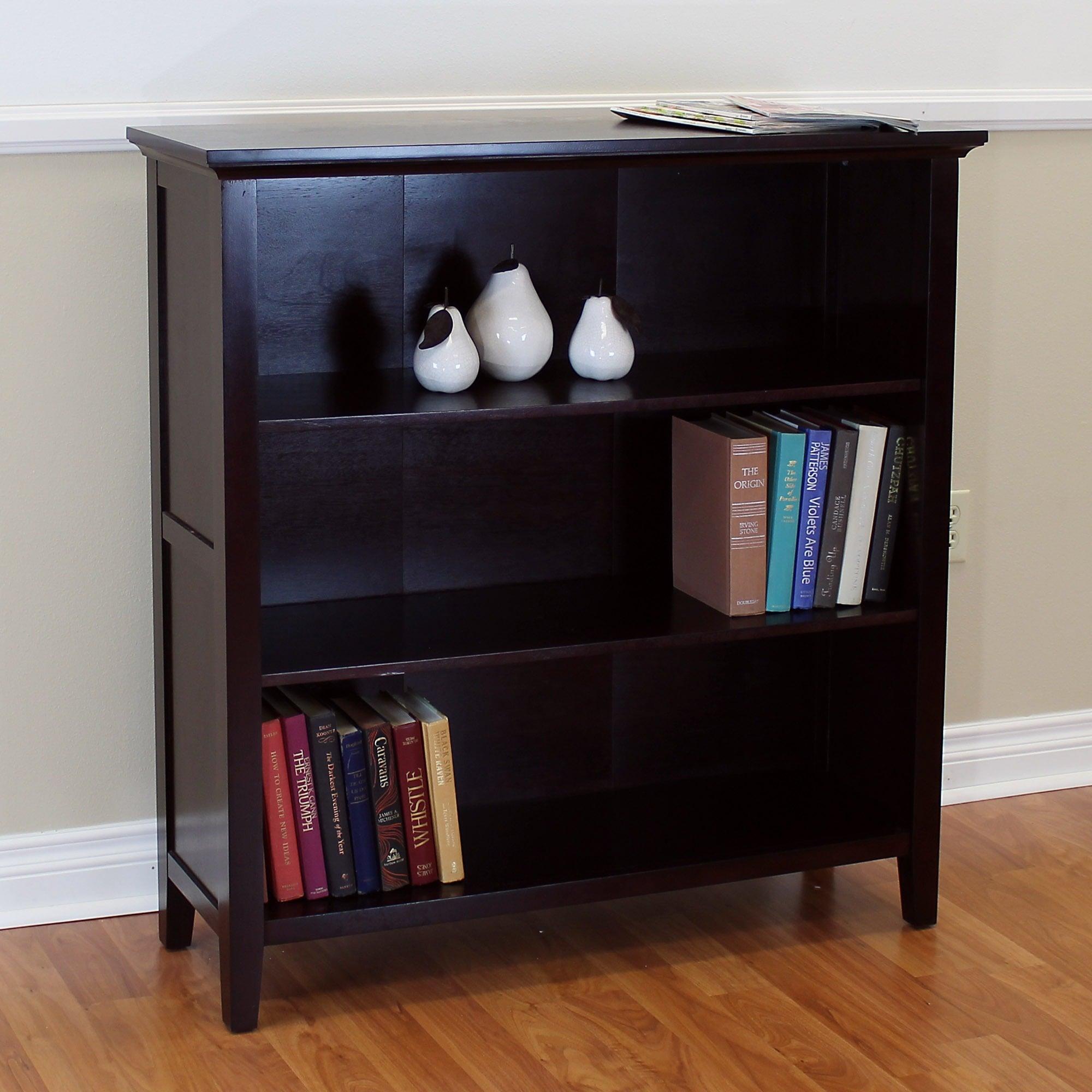 Ferndale Espresso Three Shelf Bookcase