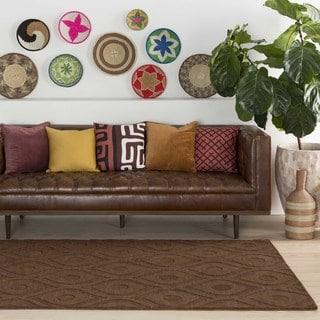 Hand-Woven Abi Tone-on-Tone Wool Rug (6' x 9')