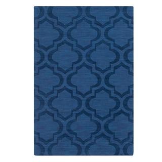 Hand-Woven Ali Tone-on-Tone Moroccan Trellis Wool Rug (3' x 5')