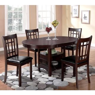 Splendor Espresso Contemporary 5-piece Dining Set