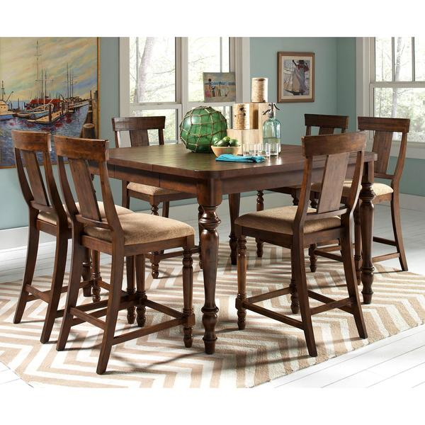 Counter Height Rustic Dining Sets : Liatris Rustic 7-piece Counter-height Dining Set - Free Shipping Today ...