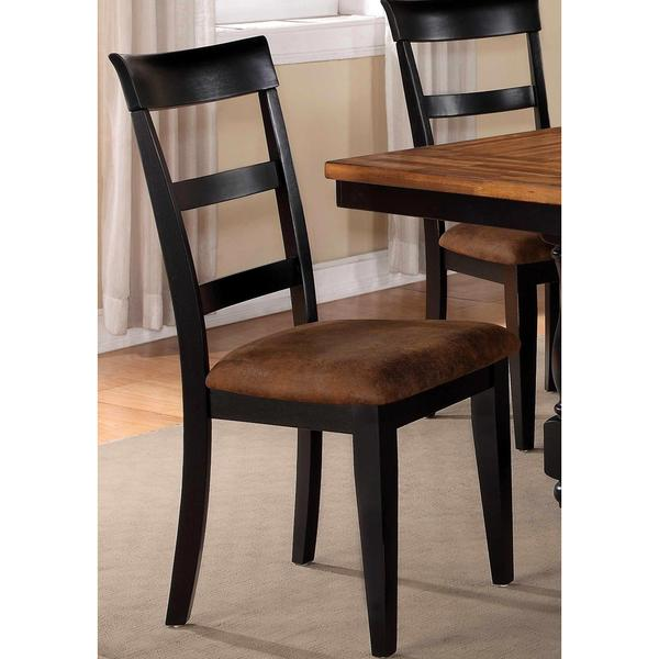 Denmark Classic Distressed Black Dining Chairs Set of 2 Free